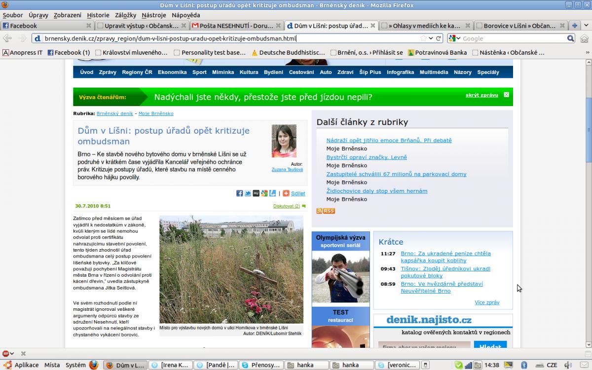 Dům v Líšni: postup úřadů opět kritizuje ombudsman
