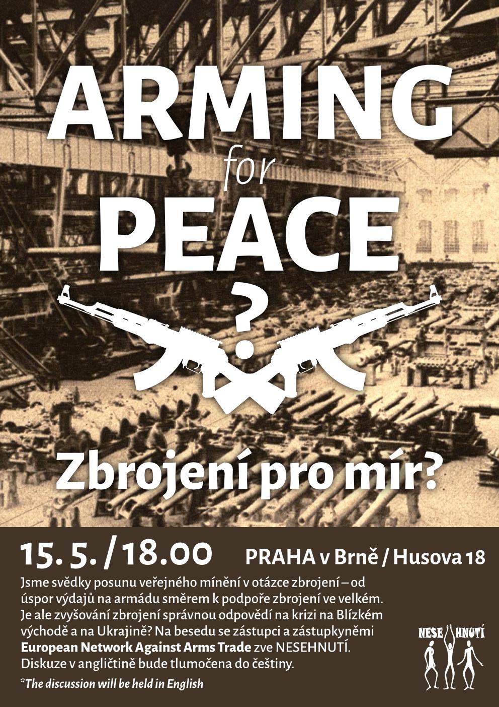 """Pozvánka na besedu """"Zbrojení pro mír?"""""""