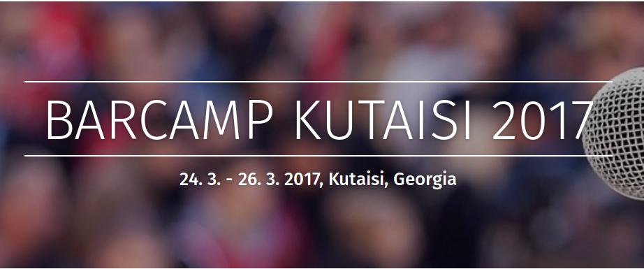Aktivisté a aktivistky diskutují občanské kampaně a boj proti propagandě na mezinárodním BarCampu v gruzínském Kutaisi