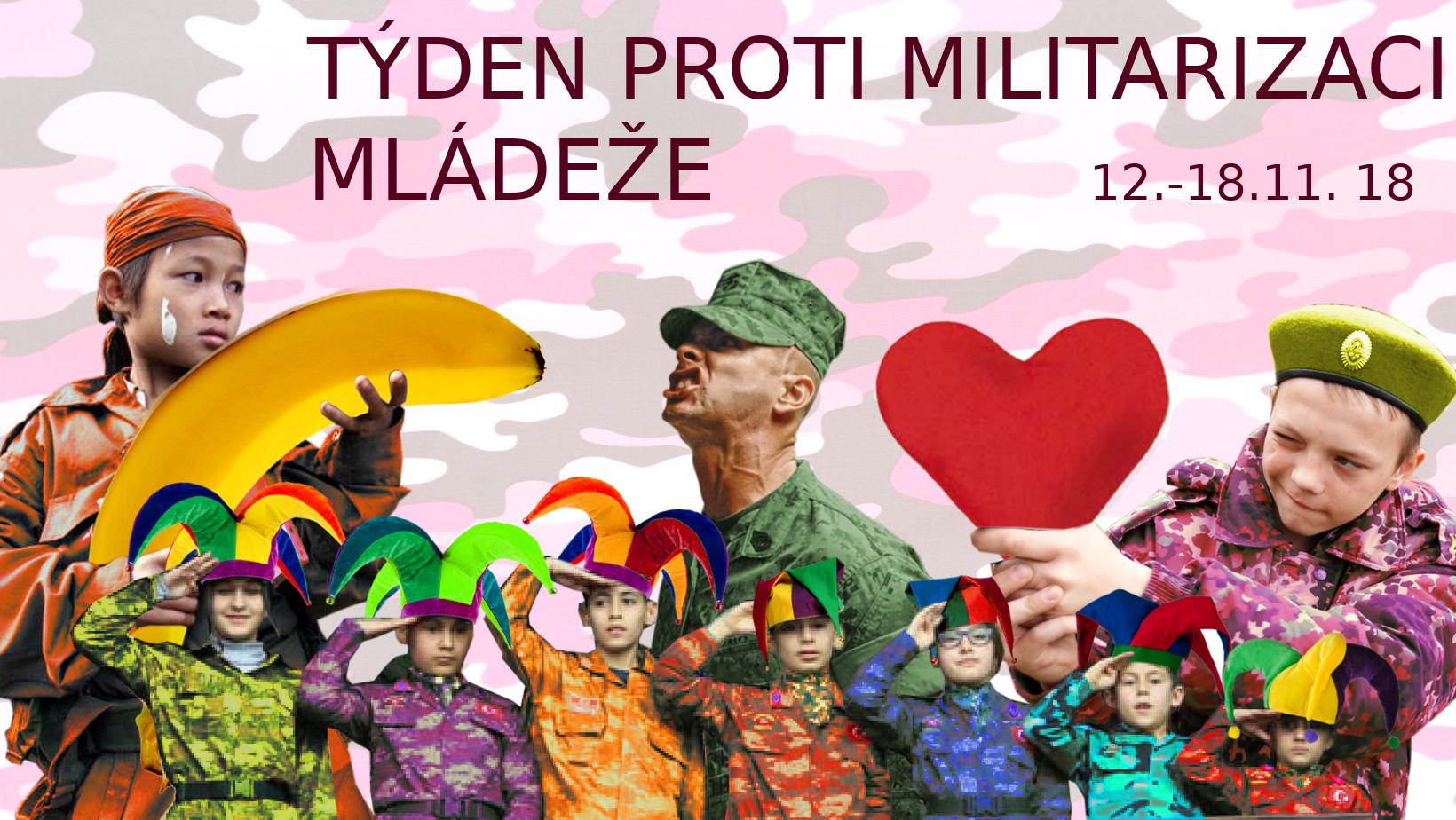 Zúčastněte se akcí Mezinárodního týdne proti militarizaci mládeže 12. až 18. listopadu